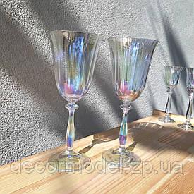 Набор бокалов для вина Bohemia Angela optic 250 мл перламутр 40600/1