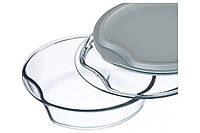 Форма для запекания 2.5 л, из стекла с/кр, + 2-я из пластика Simax Exclusive s6926/6936/L, круглая.