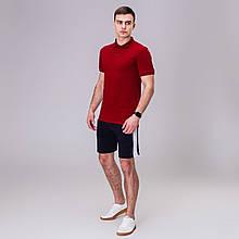 Чоловічий комплект футболка+ шорти Pobedov Summer Look бордо/наві