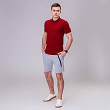 Мужской комплект футболка+ шорты Pobedov Summer Look бордо/серый