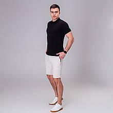 Чоловічий комплект футболка+ шорти Pobedov Summer Look чорний/беж