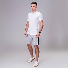 Чоловічий комплект футболка+ шорти Pobedov Summer Look білий/сірий