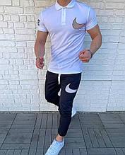 Чоловічий комплект футболка + штани, біло-чорний