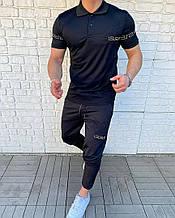 Чоловічий комплект футболка + штани, чорний