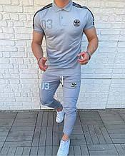 Чоловічий комплект футболка + штани, сірий
