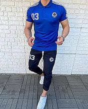 Чоловічий комплект футболка + штани, синій, чорний