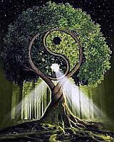 Картина по номерам рисование Чаривный диамант Дерево жизни – Инь и Янь РКДИ-0066 40х50см набор для росписи,