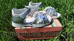 Кожаные босоножки для девочки Tom.m 9207С, 26-31 размеры.