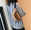 Стильна вельветова поясна сумка бананка, фото 2