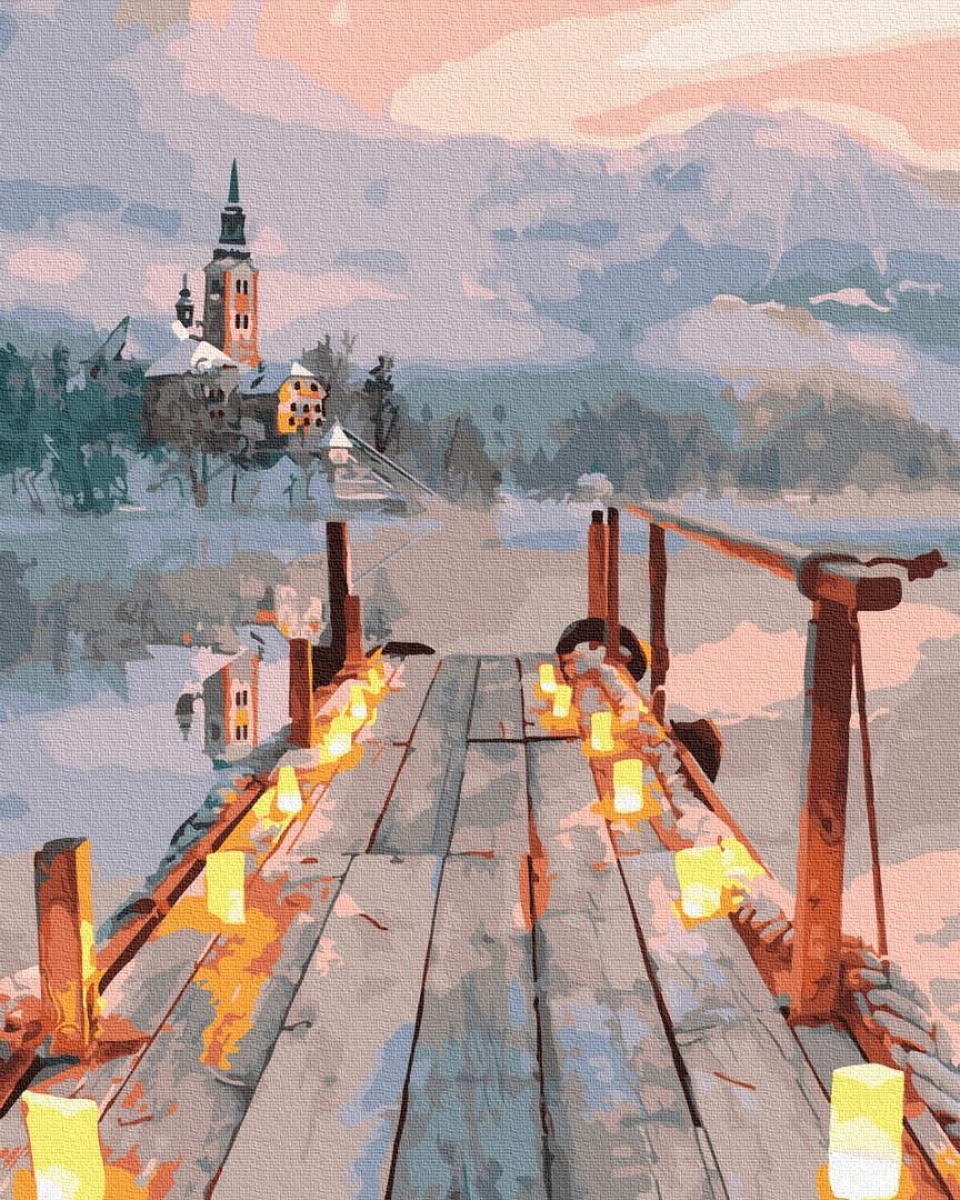 Картина за номерами - Романтика зимового вечора Brushme 40*50 див. (GX33950)