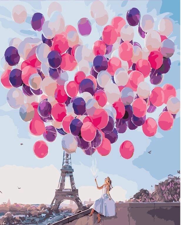 Картина по номерам - Париж в шарах Brushme 40*50 см. (GX24910)