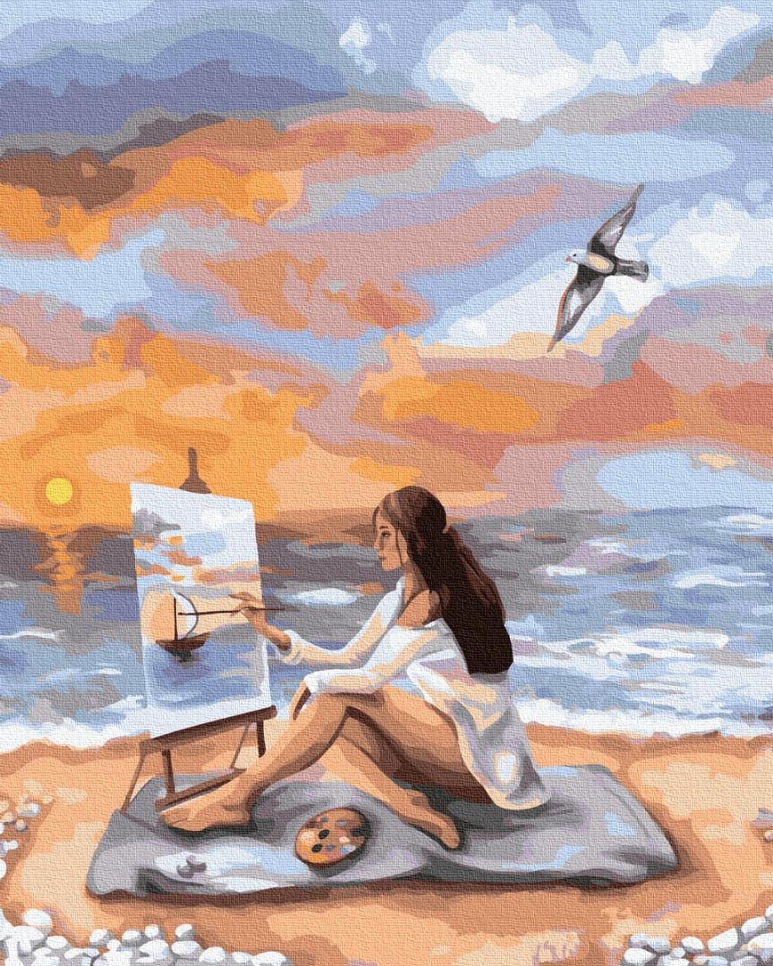 Картина за номерами - Море натхнення Brushme 40*50см. (GX39228)