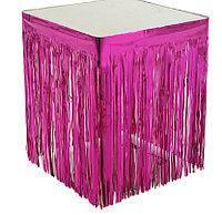 Юбка для стола из дождика для фотозон малиновая 1*1 м