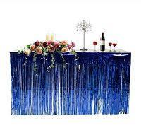 Юбка для стола из дождика для фотозон синяя  1*1 м