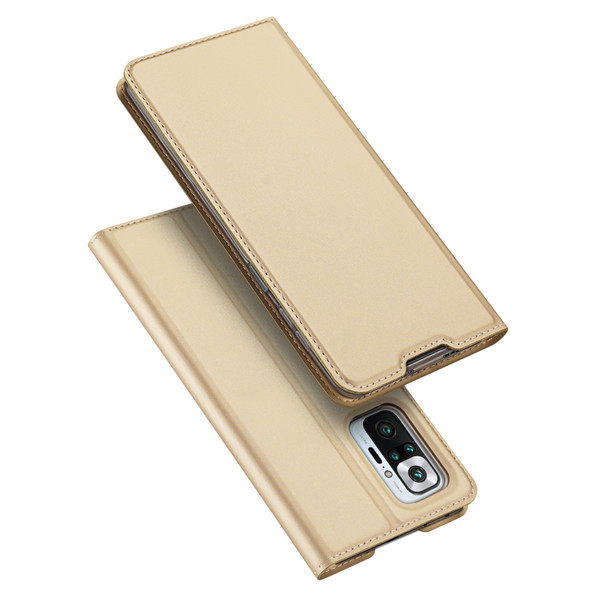 Захисний чохол-книжка Dux Ducis для Xiaomi Redmi Note 10 Pro / 10 Pro Max (Skin Pro Series) Case Gold