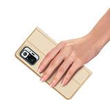 Захисний чохол-книжка Dux Ducis для Xiaomi Redmi Note 10 Pro / 10 Pro Max (Skin Pro Series) Case Gold, фото 4