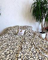 Комплект постельного белья 3Д полуторный размер Бязь Беларусь арт. Молочные вензеля