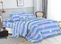 Комплект постельного белья 3Д полуторный размер Бязь Беларусь арт. Звёздочки