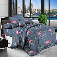 Комплект постельного белья 3Д полуторный размер Бязь Беларусь арт. Фламинго розовый