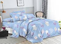 Комплект постельного белья 3Д полуторный размер Бязь Беларусь арт. Листочки и перышки