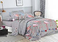 Комплект постельного белья 3Д полуторный размер Бязь Беларусь арт. Фламинго №3
