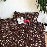 Постельное белье 3Д Двуспальный размер 180*215, Бязь Беларусь арт. Коричневые вензеля