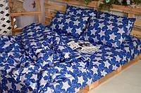 Постельное белье 3Д Двуспальный размер 180*215, Бязь Беларусь арт. Синие звезды