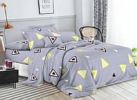 Постельное белье 3Д Двуспальный размер 180*215, Бязь Беларусь арт. Треугольник
