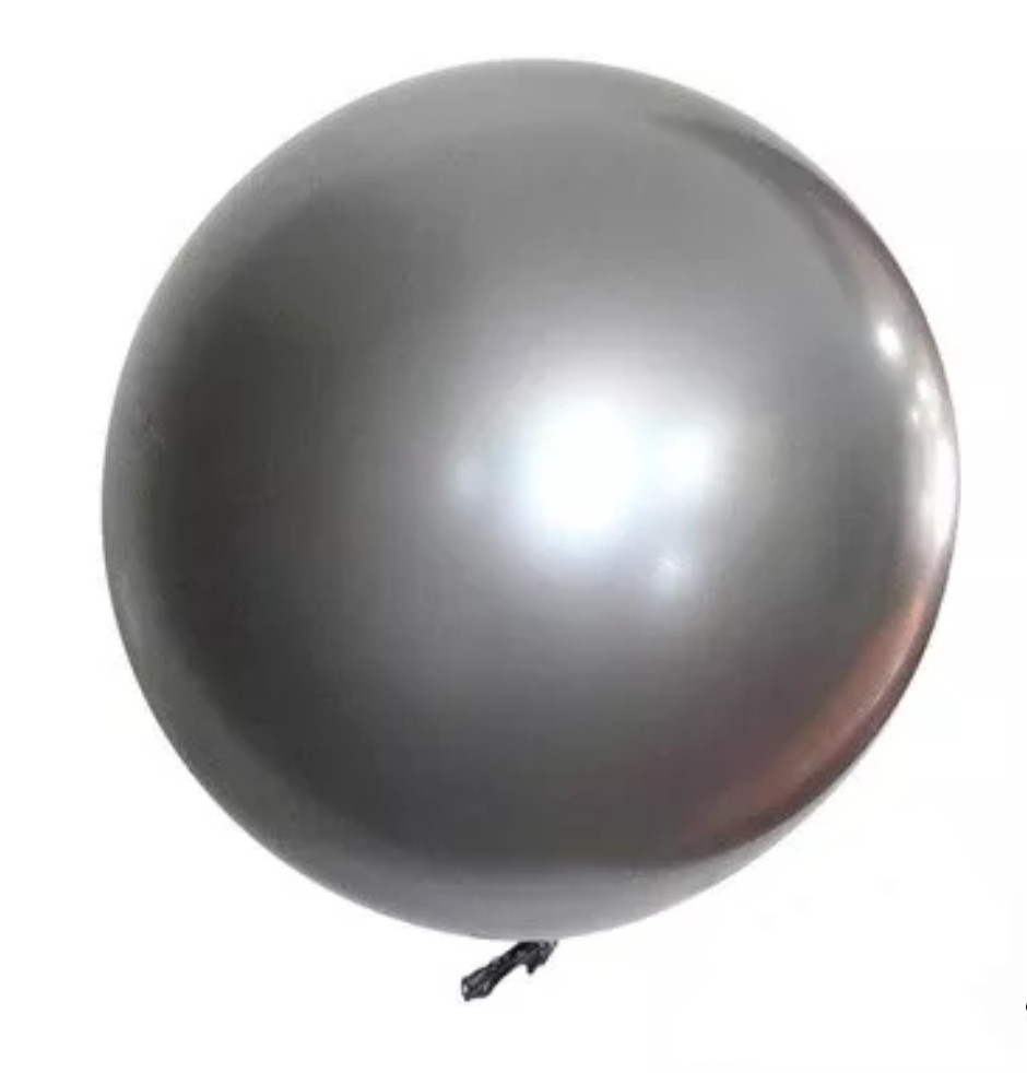Воздушный шар bubble баблс хром серебро 22 дюйма 60 см