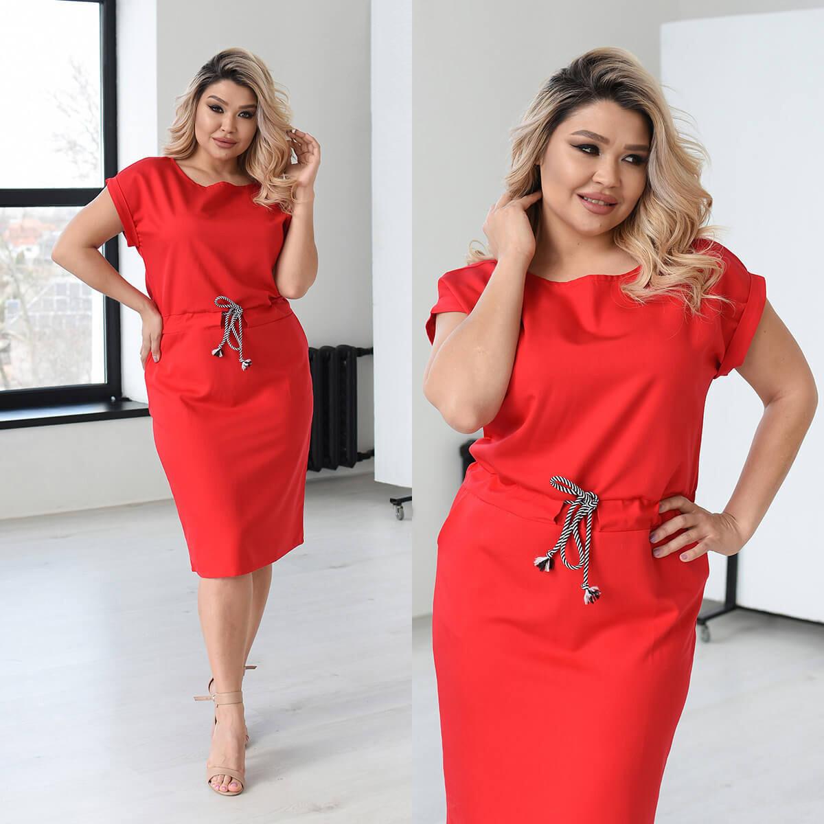 Жіноче модне літнє плаття великого розміру