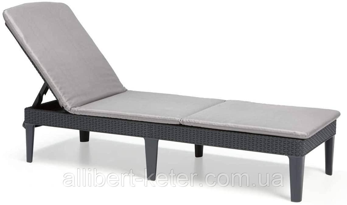 Шезлонг Allibert by Keter Jaipur Sun Lounger with Cushion з матрацом