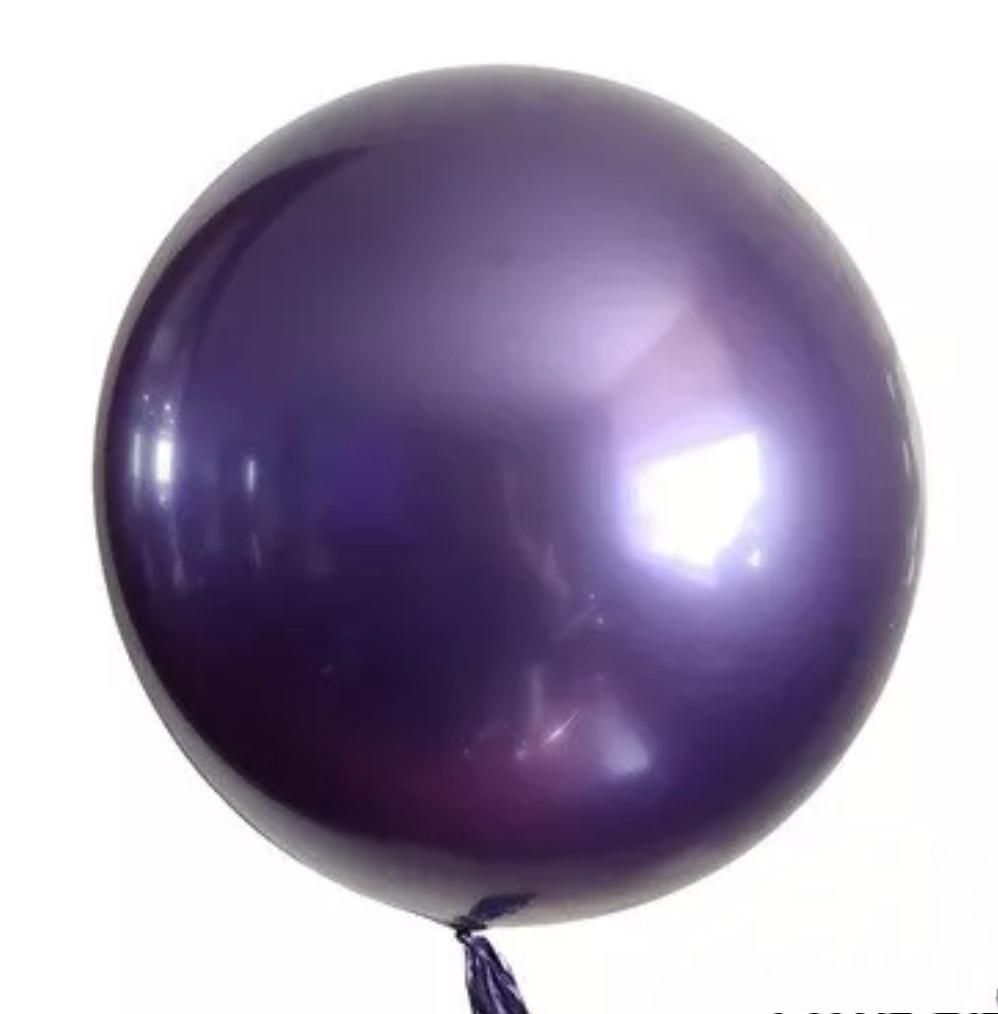 """Неймовірно красиві повітряні кулі bobo babbles Chrome баблс хром фіолетовий 18"""" 45 см"""