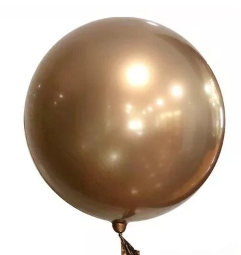 "Куля bubble баблс хром золото 22"" 60"
