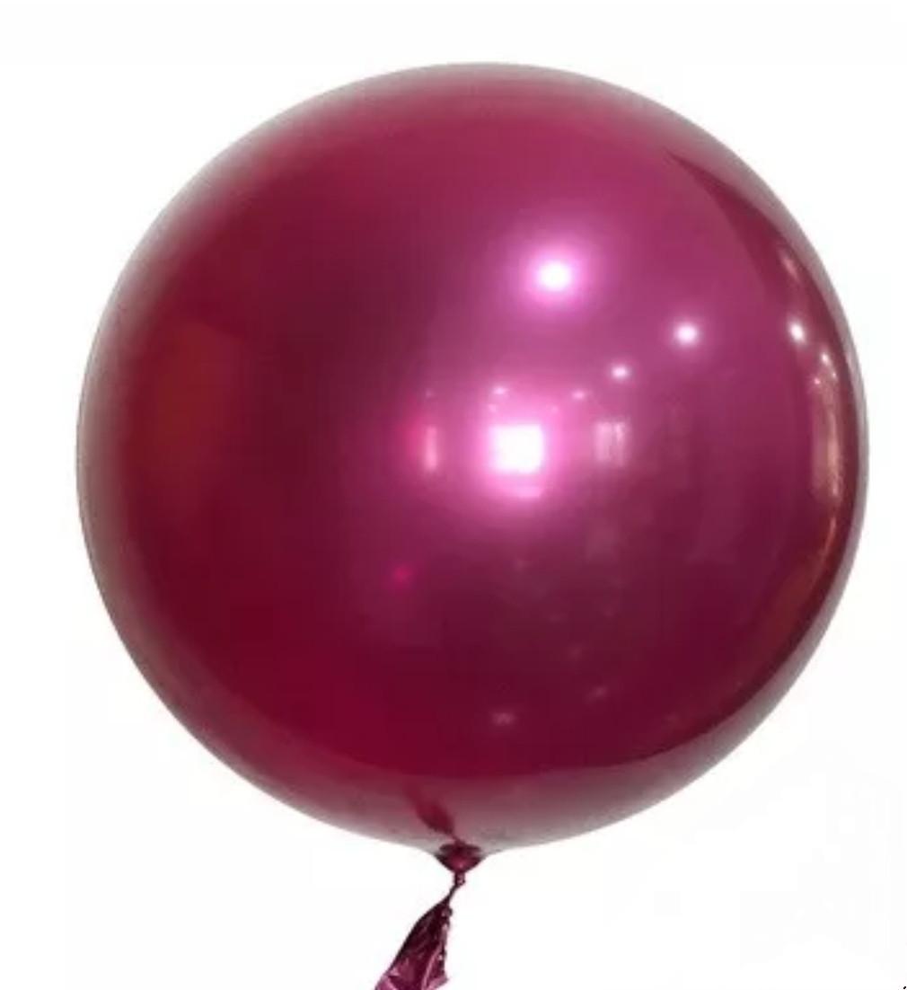 """Куля bubble баблс хром бургундія 22"""" 60 см"""