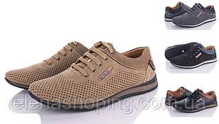 Туфли  мужские с перфорацией  р 41-45 (код 1671-00) бренд Horoso