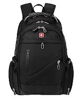 Рюкзак городской с AUX и USB 35 л Swissgear 8810 Черный