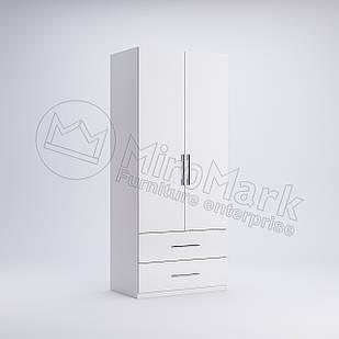 Шкаф 2 дв 2 шх без зеркал Фэмили Белый глянец ТМ МироМарк