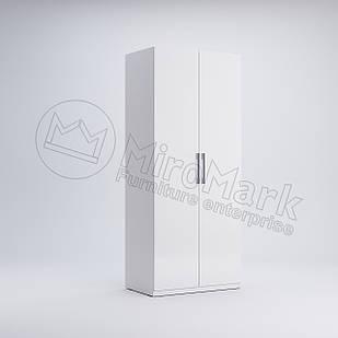 Шкаф 2 дв без зеркал Фэмили Белый глянец ТМ МироМарк