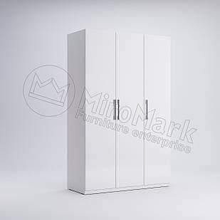 Шкаф 3 дв без зеркал Фэмили Белый глянец ТМ МироМарк