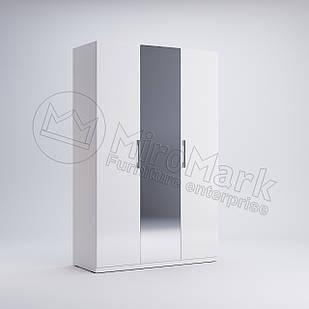 Шкаф 3 дв Фэмили Белый глянец ТМ МироМарк