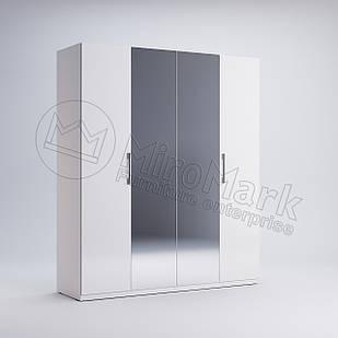 Шкаф 4 дв Фэмили Белый глянец ТМ МироМарк