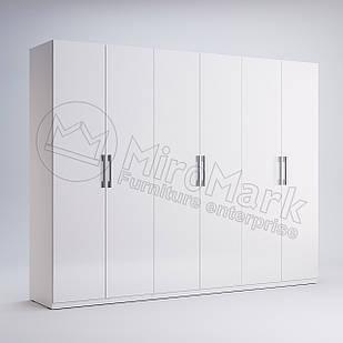 Шкаф 6 дв без зеркал Фэмили Белый глянец ТМ МироМарк
