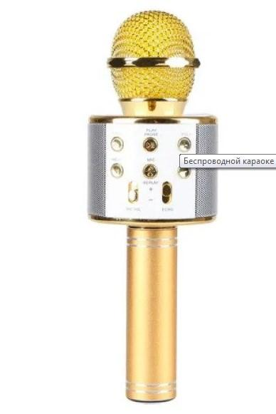 Беспроводной Караоке Микрофон Со Встроенной Колонкой DM Karaoke W