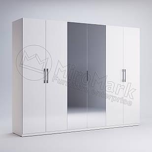 Шкаф 6 дв Фэмили Белый глянец ТМ МироМарк