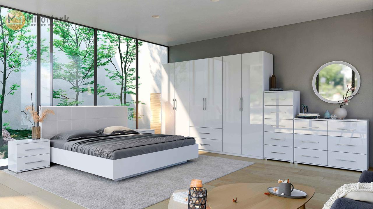 Спальня 3 дв Фэмили Белый глянец ТМ МироМарк