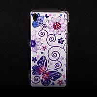 Чехол силиконовый ультратонкий Бабочки для Sony Xperia Z3 D6603, фото 1