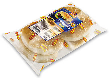 Булки для гамбургеров макси Skoga, 4шт. (328г)