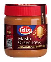 Арахисовое масло с кусочками орехов Felix, 350г
