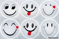Светоотражающие наклейки Longus Smile 2.0, 6 шт, белые