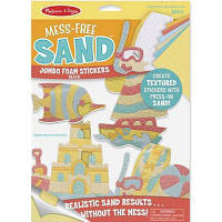 Набор для творчества Melissa&Doug Объемные блестящие наклейки Пляж (MD30042)